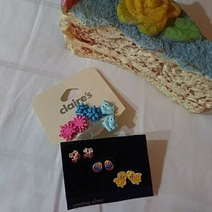 Other - 🐣6 Pair kids pierced earrings